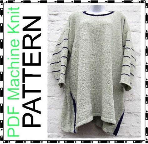 knitting machine pdf machine knitting pattern big baggy tunic lagenlook