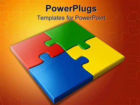 Powerpoint Template Colored Puzzles 17824 Puzzle Powerpoint Template Free