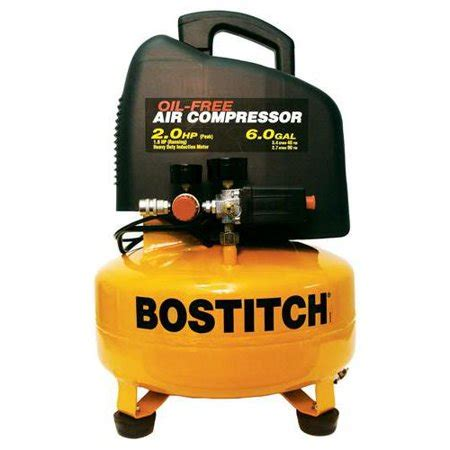 factory reconditioned bostitch cap2060p r 2 hp peak 6 gallon free pancake air compressor