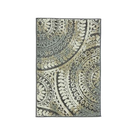 3 X 4 Area Rugs Home Decorators Collection Spiral Medallion Gray 3 Ft 3 In X 4 Ft 7 In Area Rug 25363 The
