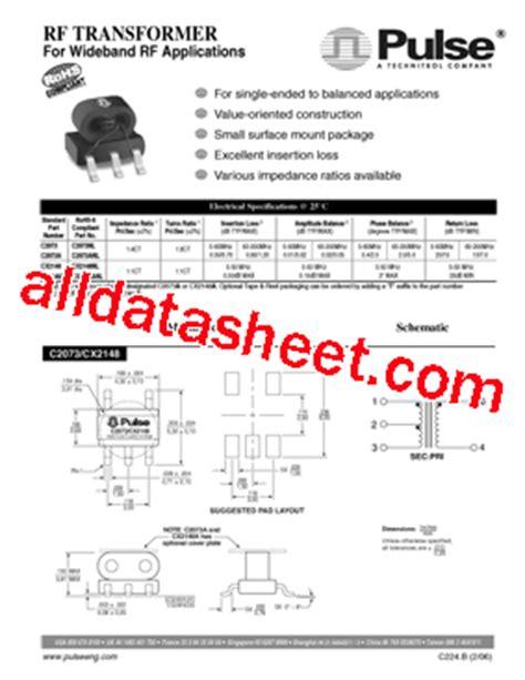 c2073 transistor data c2073 datasheet pdf pulse a technitrol company