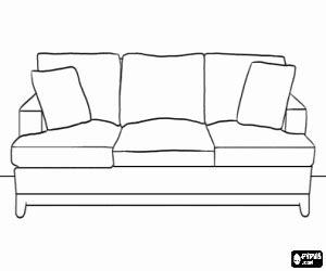 disegno divano disegni di casa da colorare e stare