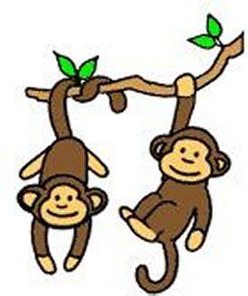 swing monkey swinging monkey cartoon clipart best