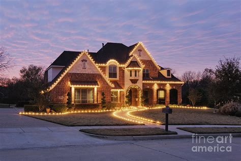 house decorated with lights home decorated with lights photograph by
