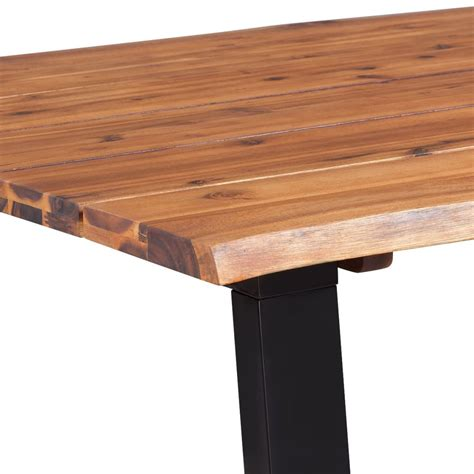 Solid Acacia Wood Dining Table Vidaxl Solid Acacia Wood Dining Table 180x90 Cm Vidaxl Co Uk