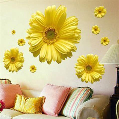 daisy home decor free shipping 1set yellow flowers decorative combination