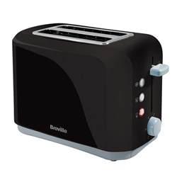 2 Slice Black Toaster Black Plastic 2 Slice Toaster Vtt232 Breville