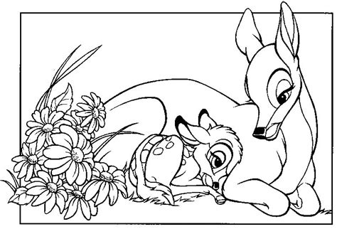 coloring pages disney bambi bambi coloring pages coloringpages1001 com