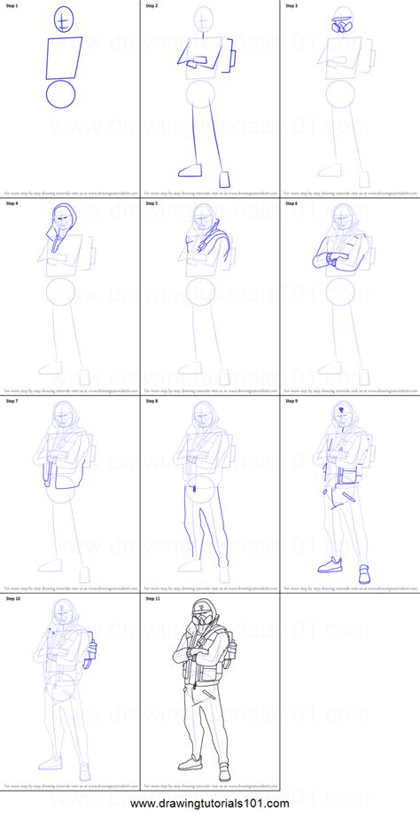 Drawing Step By Step by How To Draw Abstrakt From Fortnite Printable Step By Step