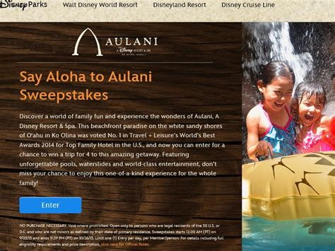 Disney Aulani Sweepstakes - disney s say aloha to aulani sweepstakes sweepstakes fanatics