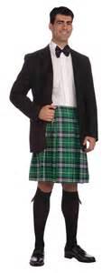 St patricks day costumes gt gt mens green scottish kilt adult costume