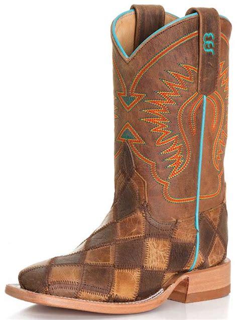 children s cowboy boots bean kid s patchwork cowboy boots