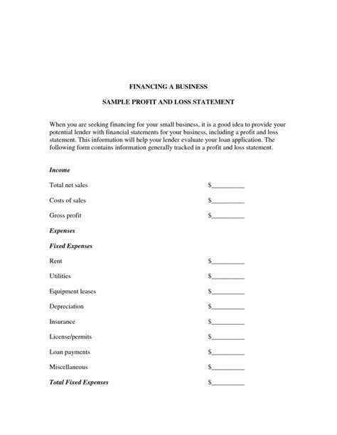 2018 income statement form fillable printable pdf forms