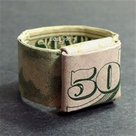 Money Origami Ring - the world s catalog of ideas