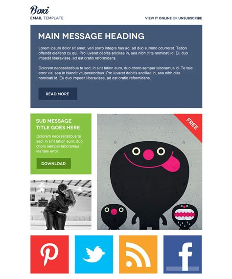 Best Free Email Newsletter Design Templates 187 Latest Collection Email Template Grid Psd