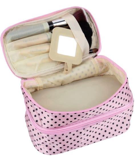 Tas Kosmetik 3 In 1 Polkadot Kosmetik Organizer Tas Travel bol polka dot make up tasje met spiegel opberg etui cosmetica organizer reis tas