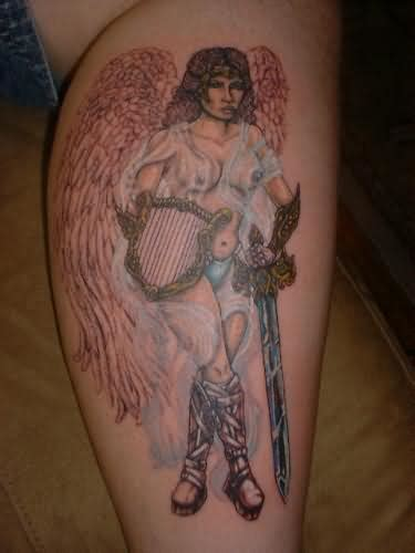 Angel With Sword Ngel With Sword Tattoos For