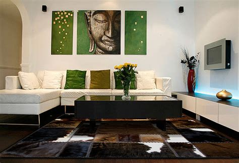 Cowhide Home Decor | cowhide patchwork rugs in contemporary home decor modern