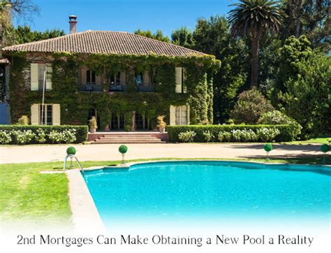 pool financing with second mortgages