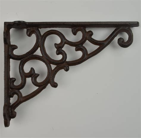 Metal Decorative Shelf by Ornate Cast Iron Decorative Shelf Brackets Of Magnificent