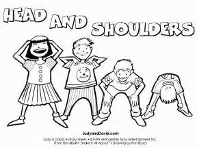 Shoulders Knees And Toes Coloring Page free coloring pages of shoulders knees toes