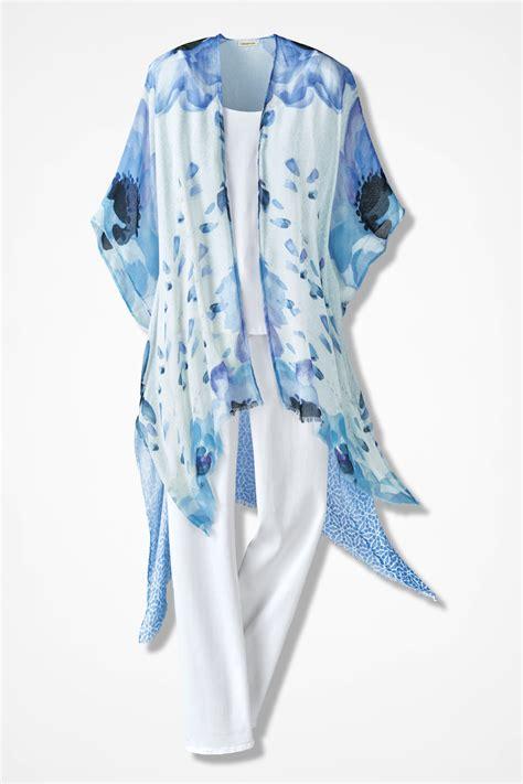 Scarf Vest 1 watercolor scarf vest coldwater creek