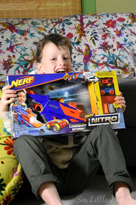 nerf car shooter six little hearts nerf nitro longshot smash review and