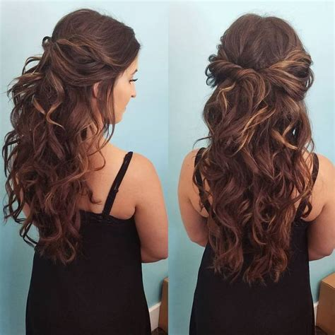 homecoming hairstyles all down best 25 half up half down ideas on pinterest prom hair