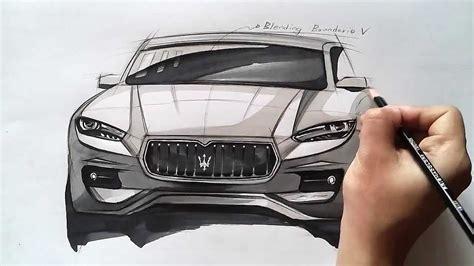 온스케치 tv car sketch quot maserati levante sketch color