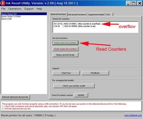 epson l120 resetter communication error 25 7 reset key for epson printers