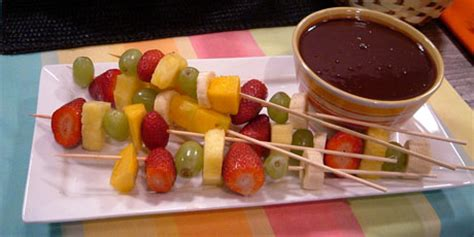 Choco Fondue Choco Stick fruit sticks with chocolate dipping sauce recipes food network canada