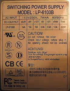 Mam zasilacz switching power supply model lp 6100b a na p ycie