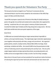 Thank You Letter To Voice 7 Exles Of Thank You Speeches