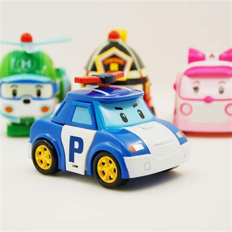 Promo Robocar Poli 6 Karakter Figure Robocar Poli Seri robocar poli transformation robot car toys korea robocar