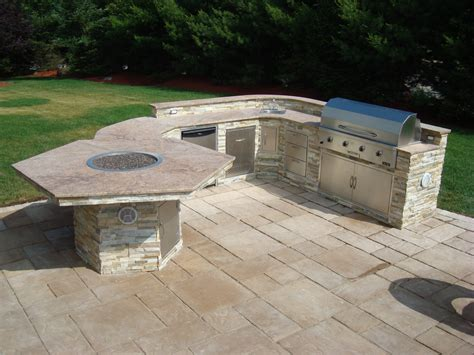 lawn garden patio gas pit table and patio