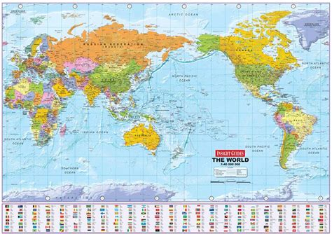 world map image pacific centered political world wall map medium pacific centered wall