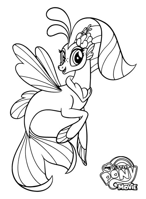 my little pony mermaid coloring pages my little pony the movie coloring pages to download and