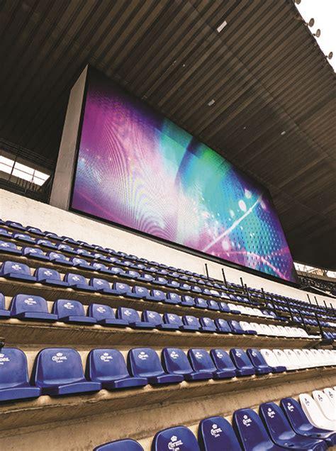 cabecera estadio azteca el estadio azteca estrena pantallas gigantes de panasonic