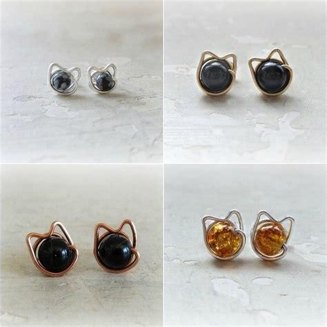 cat stud earrings cat confidential