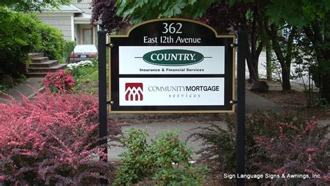 eugene sign and awning post panel signs sign language signs awnings inc