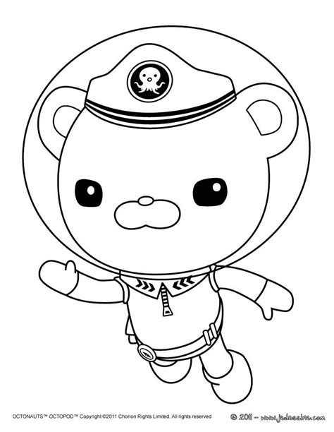 octonauts coloring pages octonauts captain barnacles coloring pages coloring pages