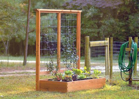 build a garden trellis great raised bed options diy network blog made remade