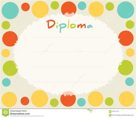 background design for kinder preschool elementary school kids diploma certificate