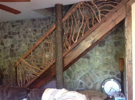rustic handrails   home options  materials