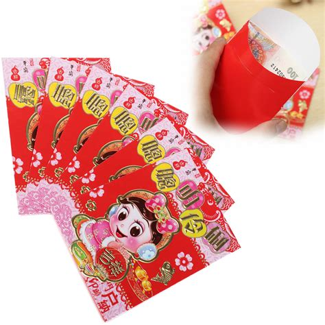 new year lucky money us mint 6pcs clever chinatown festival envelope