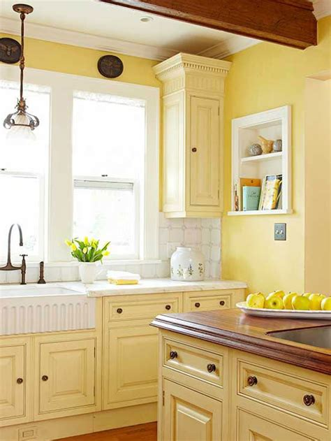 yellow painted kitchen cabinets kitchen cabinet color choices