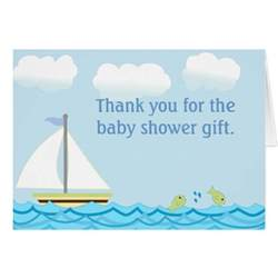 sailboat baby shower thank you note card zazzle