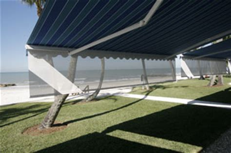 Powered Awnings by Motorized Rolling Shades Screens Retractable Awnings High Velocity Category 5 174 Hurricane