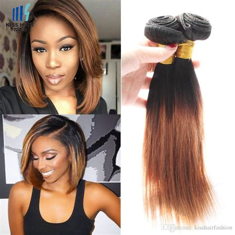 ombre weave hair st colored brazilian hair bundles silky straight dark root