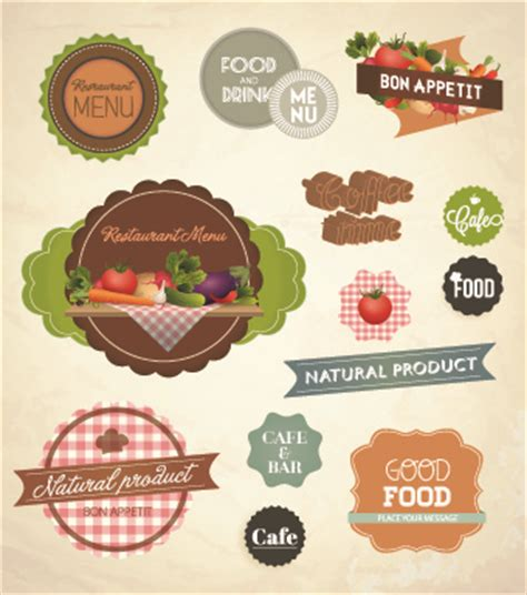 design label food fresh food labels design vector free vector in